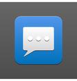 Bubble speech icon eps10 vector
