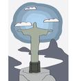 Rio de janeiro christ statue vector
