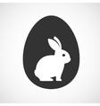 Rabbit inside a egg vector