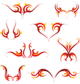 Fire tattoo set vector