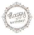 Decorative badge with greeting text for birthday vector