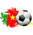 Cameroon soccer grunge vector