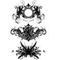 Set of ornamental heraldic elements vector