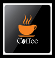 Coffee cup design icon with black background vector