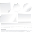 Collection of various white note papers on white b vector