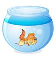 A fish and a bowl vector