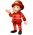 A fireman with a complete uniform vector