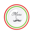 Funny italian restaurant menu design template vector