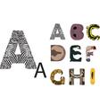 Abc of wild animals vector