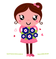 Mother holding a flowers for mothers day vector