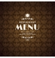 Restaurant cafe menu cover template vector
