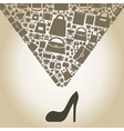 Bag from shoe vector