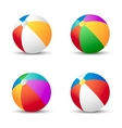 Colorful beach balls isolated on white with shadow vector