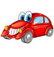 Happy car cartoon vector