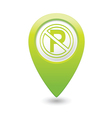 No parking symbol map pointer green vector
