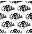 Seamless pattern with tribal racing tattoo vector