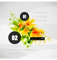 Leaf nature infographics modern template vector