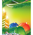 Bright christmas card vector