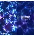 Electric background with plastic transparent vector