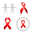 Isolated red ribbon vector