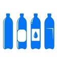 Water bottle set vector