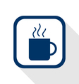 Cup coffee flat icon vector