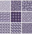 Monochrome violet retro style tiles vector