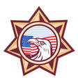 American sheriff badge vector