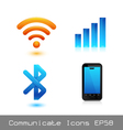 Communicate icon vector