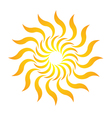 Candy sun logo vector
