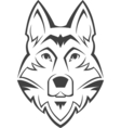 Dog head symbol vector