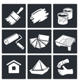 Painting work icon set vector