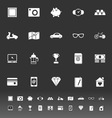The useful collection icons on gray background vector