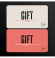 Retro gift card template vector