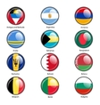 Set circle icon flags of world sovereign states vector
