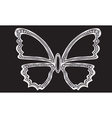 Silver butterfly with diamonds vector