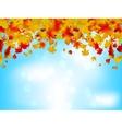 Autumn leaves on blue sky eps 8 vector
