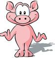 Cute pig vector