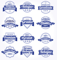 Spanish retro sale labels vector