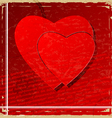 Red heart on vintage background vector