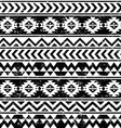 Aztec tribal seamless grunge white pattern vector