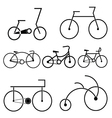 Silhouette of bicycle symbol vector