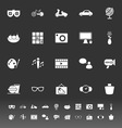 Favorite and like icons on gray background vector