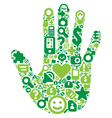Concept of green human hand vector