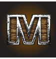 Wood and metal figure vector