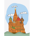 St basil s cathedral on red square vector