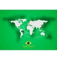 Concept air traffic design brazilian colors vector