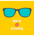 Glasses icon back to school flat design style vector