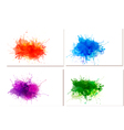 Abstract watercolor banners vector