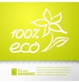 Green background and eco 100 sticker vector